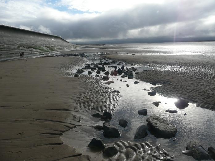 Inspecting the Sea Wall at Burnham on Sea