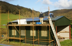 erecting Solar Panels