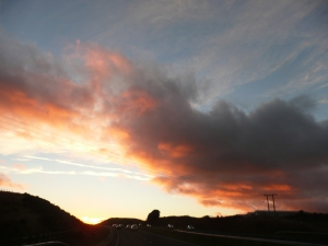 Sunset over Merthyr