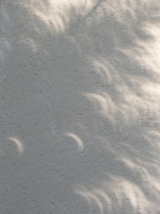 Nature taking artistic liberties during the eclipse